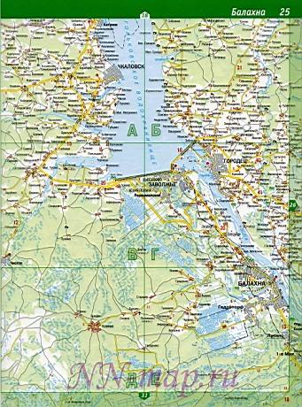Карта Балахнинского района.