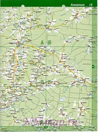 Карта Ковернинского района