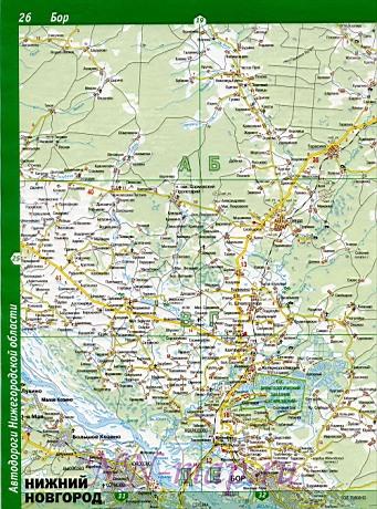 Карта борского района подробная
