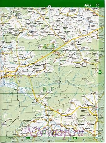 Карта шахунский район подробная