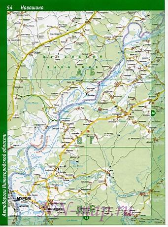 Карта навашинский район подробная