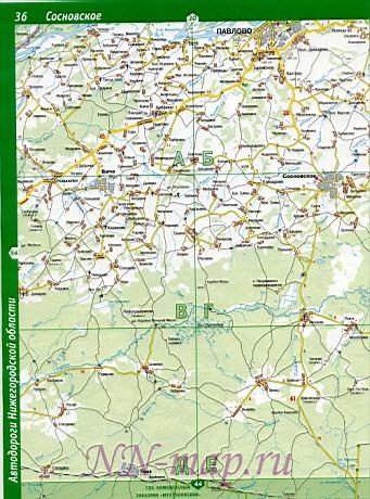 Карта Навашинский район.