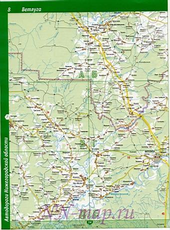 Карта ветлужский район подробная