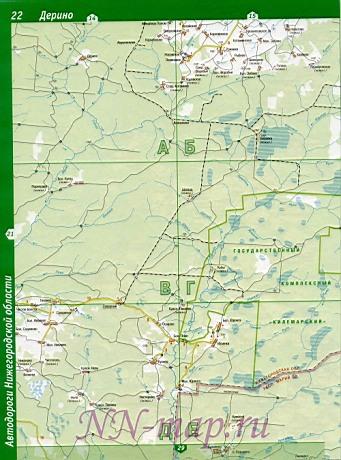 Карта воскресенского района