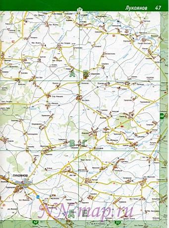 На карте с расстояниями по
