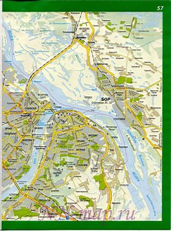 Карта нижнего новгорода карта улиц